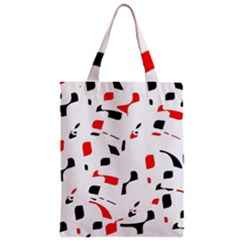 White, red and black pattern Classic Tote Bag