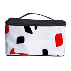 White, red and black pattern Cosmetic Storage Case