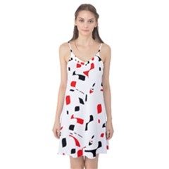 White, red and black pattern Camis Nightgown