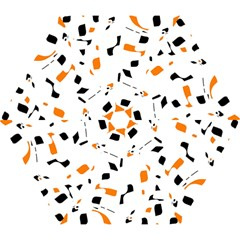 Orange, white and black pattern Mini Folding Umbrellas