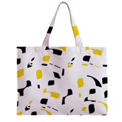 Yellow, black and white pattern Zipper Mini Tote Bag
