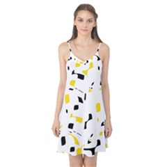 Yellow, black and white pattern Camis Nightgown