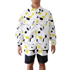 Yellow, black and white pattern Wind Breaker (Kids)