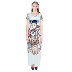 Sandlot Short Sleeve Maxi Dress