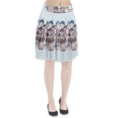 Sandlot Pleated Mesh Skirt