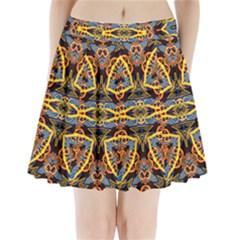 4646 Pleated Mini Mesh Skirt