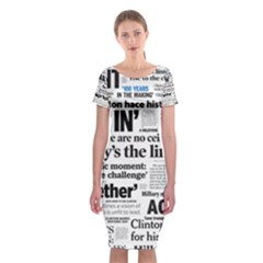 Hillary 2016 Historic Headlines Classic Short Sleeve Midi Dress