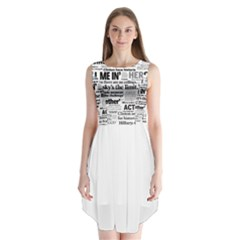 Hillary 2016 Historic Headlines Sleeveless Chiffon Dress