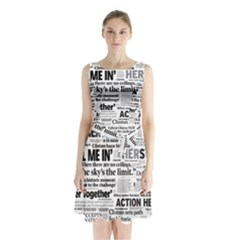 Hillary 2016 Historic Headlines Sleeveless Waist Tie Dress