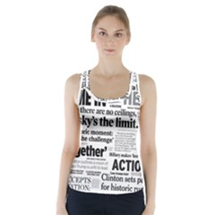 Hillary 2016 Historic Headlines Racer Back Sports Top