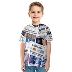 Hillary 2016 Historic Newspaper Collage Kid s Sport Mesh Tee
