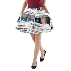 Hillary 2016 Historic Newspaper Collage A-Line Pocket Skirt
