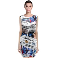 Hillary 2016 Historic Newspaper Collage Classic Sleeveless Midi Dress