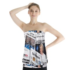 Hillary 2016 Historic Newspaper Collage Strapless Top