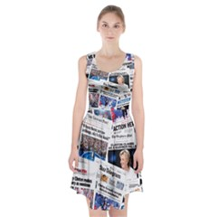 Hillary 2016 Historic Newspaper Collage Racerback Midi Dress