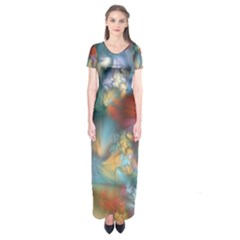 More Evidence of Angels Short Sleeve Maxi Dress