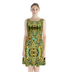 Space Logic Sleeveless Waist Tie Dress
