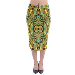 Space Logic Midi Pencil Skirt