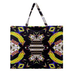 THIS OR THAT Zipper Large Tote Bag