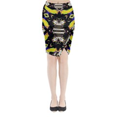 THIS OR THAT Midi Wrap Pencil Skirt