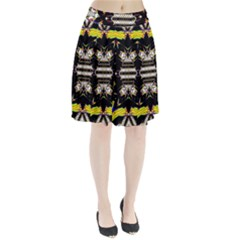 This Or That Pleated Mesh Skirt