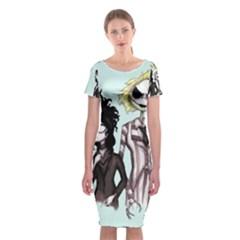 SkellingJuice Classic Short Sleeve Midi Dress