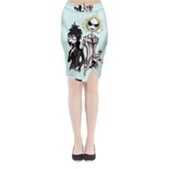 Skellingjuice Midi Wrap Pencil Skirt