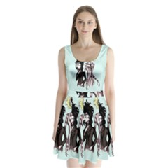 Skellingjuice Split Back Mini Dress