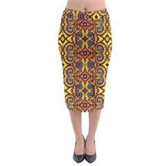 Sky World Midi Pencil Skirt