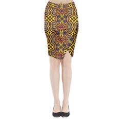 Apart Art Midi Wrap Pencil Skirt