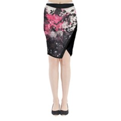 Watercolor Midi Wrap Pencil Skirt