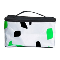 Green, black and white pattern Cosmetic Storage Case