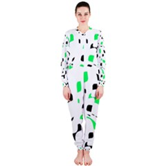 Green, black and white pattern OnePiece Jumpsuit (Ladies)