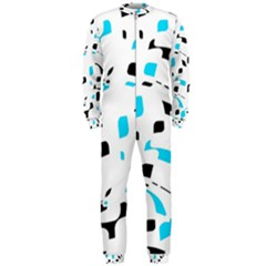 Blue, black and white pattern OnePiece Jumpsuit (Men)