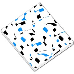 Blue, black and white pattern Small Memo Pads