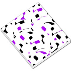 Purple, black and white pattern Small Memo Pads