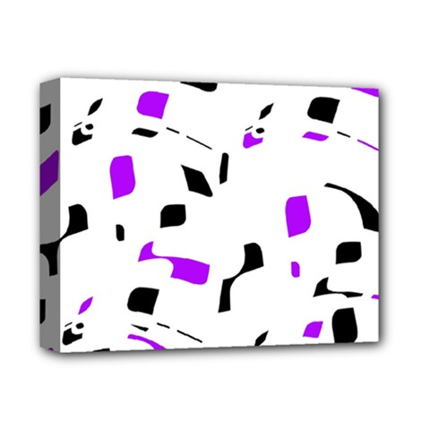 Purple, black and white pattern Deluxe Canvas 14  x 11