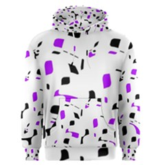 Purple, black and white pattern Men s Pullover Hoodie