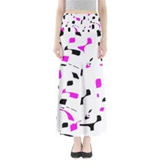 Magenta, black and white pattern Maxi Skirts