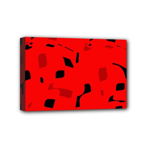 Red and black pattern Mini Canvas 6  x 4