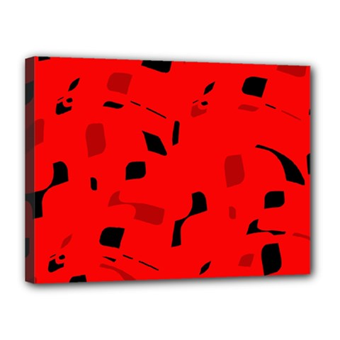 Red and black pattern Canvas 16  x 12