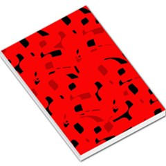 Red and black pattern Large Memo Pads