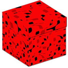 Red and black pattern Storage Stool 12