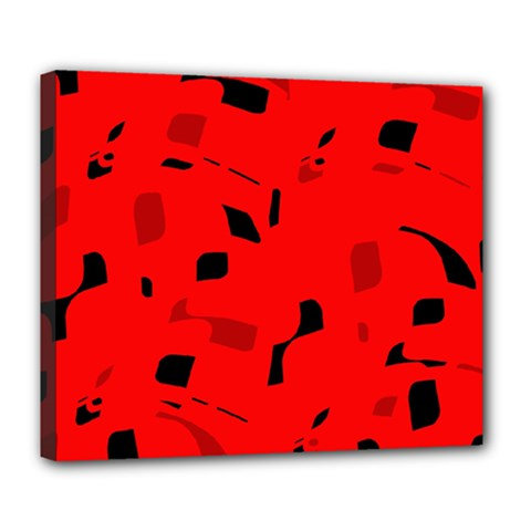 Red and black pattern Deluxe Canvas 24  x 20