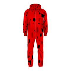 Red and black pattern Hooded Jumpsuit (Kids)