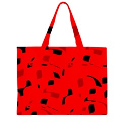 Red and black pattern Large Tote Bag