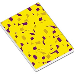 Yellow and purple pattern Large Memo Pads