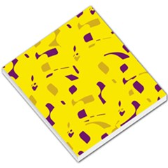 Yellow and purple pattern Small Memo Pads