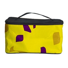Yellow and purple pattern Cosmetic Storage Case