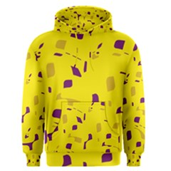 Yellow and purple pattern Men s Pullover Hoodie